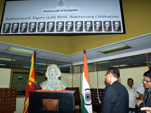 Unveiling of the bust of Rabindranath Tagore  5